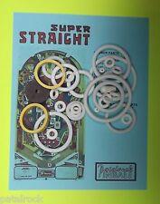 1977 Sonic Super Straight pinball rubber ring kit