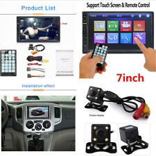 "Car Stereo Radio MP5 Player 2DIN 7"" Bluetooth HD Touch Screen With Rear Camera"