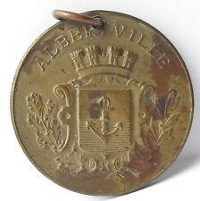 Médaille pendentif Pax Adoremus Albertville blason c1920 AJ Corbierre 22mm Medal