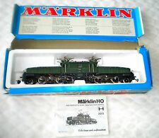 Vintage Marklin 3015 Locomotive Engine HO Scale Swiss Crocodile Train Box Manual