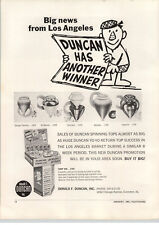 1963 PAPER AD Duncan Spinning Top Tops Toy Toys Store Display Stand
