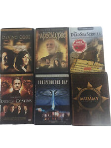 8 Dvd Lot Apocalypse Angels & Demons Independence Day Mummy DaVinci Code