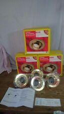 One box of Wickes Pk of Four R63 60W 230V Eyeball Downlight Lights Brass Effect