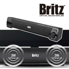 Britz BA-R9 Powered Sound Bar USB PC Speaker , 2 Channel 3W x 2 Multi Soundbar