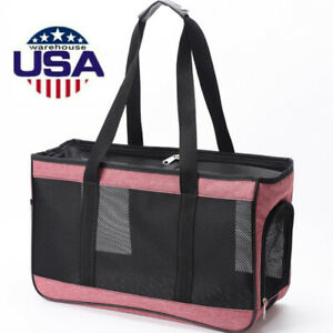 Pet Cat Carrier Puppy Dog Sling Mesh Bag Outdoor Single Shoulder Bag Tote Travel