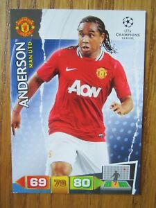 Anderson of Manchester United Champions League 2011/12 base card