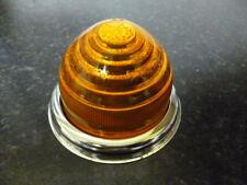 Classic Car Lucas L594 Glass Indicator Lens & Chrome Bezel