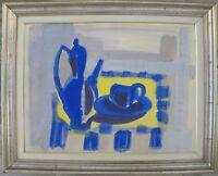 Giuseppe AJMONE (Carpignano 1923-Romagnano Sesia 2005) Natura morta cm50x65 1953