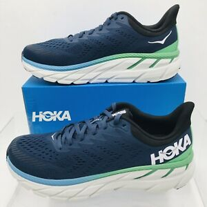 Hoka One One Clifton 7 Moonlit / Ocean/ Anthracite Men's Running Shoes SZ  9.5 D