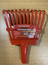 "Takumashii Professional Series 7"" Steel Shrub Rake Head 11 Flexible Curved Tines"