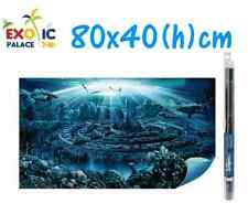 HYDOR H2SHOW ATLANTIS SFONDO CON GEL PER ACQUARIO 80x40cm DECORAZIONE POSTER