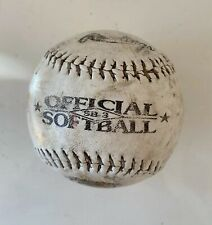 Official League 12 Inches Softball Ball - Very Worn