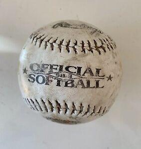 Official League 12 Inches Softball Ball - Very Worn