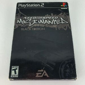 Need for Speed: Most Wanted Black Edition (Sony PlayStation 2, 2005) w/ sleeve