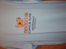 Rotovegas New Zealand blue graphic FAT DOG cafe n Bar M t shirt