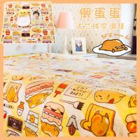 Gudetama Soft Velvet Blanket Gift Cartoon Cute Bed Throw Blanket