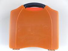 "Wall Mounted Burn Burns Scolds First Aid Kit Orange  8"" x 8"" x 2½"""