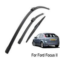 3Pcs Front Rear Windscreen Wiper Blades Set For Ford Focus MK2 Hatchback 04-11