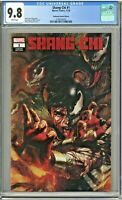 Shang-Chi #1 CGC 9.8 Unknown Comics Edition Marco Mastrazzo Cover Variant