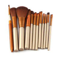 12 Pro Makeup Brushes Set Kabuki Foundation  Eyeshadow Lip Brush Tool TO