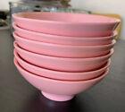 6 Retro Bootonware Pink Melamine Melmac Fruit Rice Dish Bowls 3303-10
