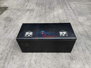 Black Aluminium Top Open Rectangular UTE TRAILER CARAVAN ToolBox 900 x 400 x 400