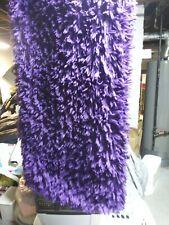 Purple Shag Throw Rug And Pillows