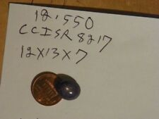 Black Star Sapphire 11.93x13.52x7.16 MM. Oval Cab Cabochon 12.550 Carats