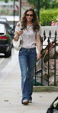 NEW DIESEL Ronhar Wide Leg Flare Bootcut Worn In Blue Denim Jeans - 27