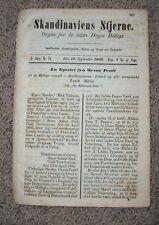 SCANDINAVIAN STAR September 1856 LDS Mormon SKANDINAVIENS STJERNE Magazine