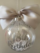 Birthday Personalised 16th 18th 21st 30th 40th  50th 60th Birthday Bauble Gift