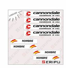 X8 PEGATINAS PERSONALIZADA CANNONDALE STICKERS DECAL MOUNTAIN BIKE BICI
