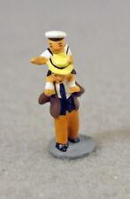 J Carlton By Gault French Miniature Figurine Paris Two Pcs Little Boy W/ Father