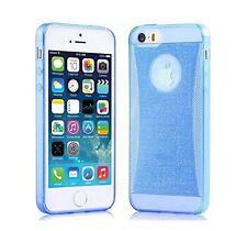 Coque Gel TPU souple effet strass brillant pour iPhone 6  PLUS Transparent -Bleu