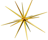 STARBURST CHRISTMAS ORNAMENTS HANGING STAR DECORATION STARBURSTS ACCENT