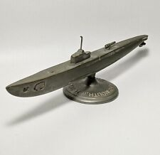 WW2 Antique Brass Submarine Paperweight Model. U.S.S Flying Fish. *RARE*