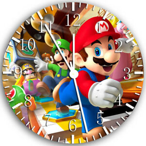 Super Mario Frameless Borderless Wall Clock Nice For Gifts or Decor Z41