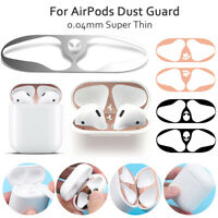 Metal Film Sticker Dust Guard Iron Shavings Protective Cover For AirPods 1/2~