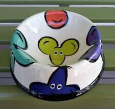 """New listing Mint Mouse Motif Ceramic Cat Food Bowl Water Dish """"Burges @ Square One '97"""""""