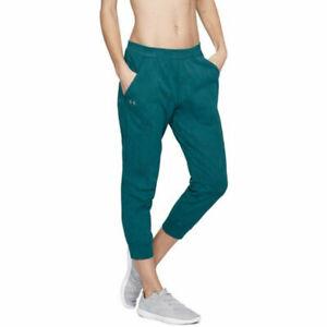 Under Armour UA HeatGear Ladies Balance Tourmaline Mesh Loose Ankle Crop Pants L