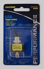 NEW CalTerm 40294 LED Toggle Switch Blue 30A 12V DC SPST ON OFF