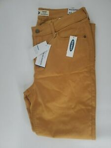 Old Navy Rockstar Yellow, Mustard Mid-Rise Stretch Skinny Jeans Women's Size 10
