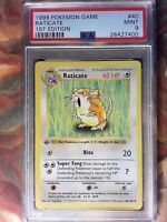 RATICATE PSA 9 MINT Pokemon 1st Edition Base Set WOTC 40/102 Shadowless