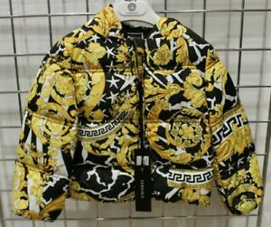 Genuine Baby Girls Gianni Versace hooded Short Padded Jacket Print New with tags