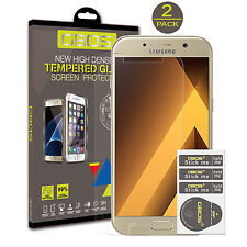 2 Pack GBOS ® Genuine Tempered Vidrio Protector de pantalla para Samsung Galaxy A5 (2017)
