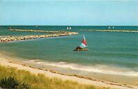 Cape Cod, Mass, MA, Falmouth Harbor, Sailboat, Unused Vintage Postcard c9923