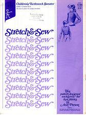 "1974 Stretch & Sew Ann Person Sewing Pattern #855 ""Children's Turtleneck Sweater"
