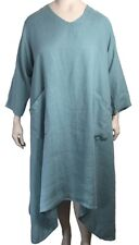 >50% OFF XL La Fixsun By Match Point Asymmetrical Hem V-Neck Linen Dress Pockets