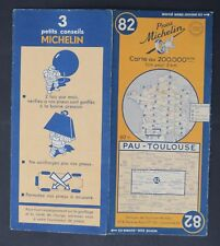 Carte MICHELIN old map n°82 PAU TOULOUSE 1948 Guide Bibendum pneu tyre
