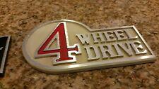 Aluminum Retro Toyota 4 Wheel Drive Badge (Cream)